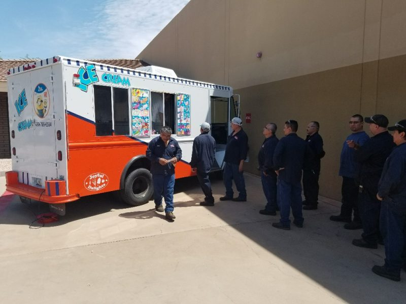 Ice cream truck for employees at IDC